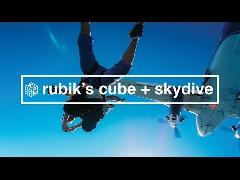 Solving a Rubik's Cube While Skydiving