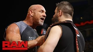 """Goldberg Joins The Debut Installment Of """"The Kevin Owens Show"""": Raw, Jan. 2, 2017"""