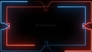 Neon border animation background template loop | neon background video loop, neon background effect