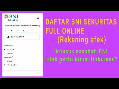 Daftar full online BNI sekuritas tanpa perlu kirim Dokumen