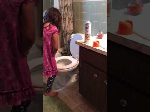 We caught Eliza peeing standing up