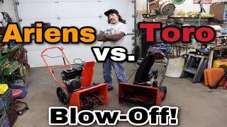 Toro vs. Ariens Snow Blower Blow-Off!