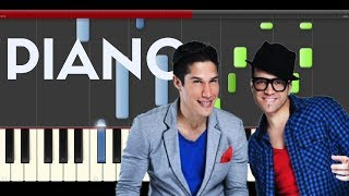 Chino y Nacho Ft Farruko Me voy enamorando piano midi tutorial sheet partitura cover app
