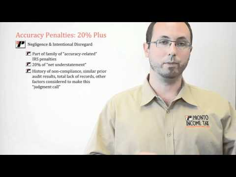 Taxes School and Tax Preparation Training Courses: IRS Penalties ...