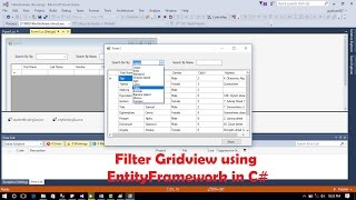 C# - Filter Gridview | C# - How to Filter DataGridview with textbox