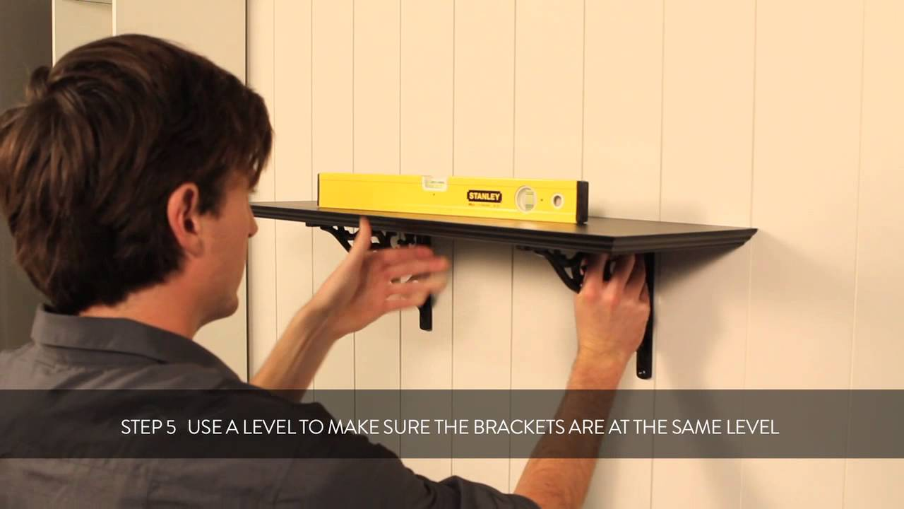 HOW TO: fixing a classical bracket to your wall