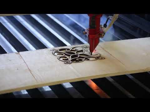 Cięcie sklejki 7mm przy użyciu lasera Co2 seria C | Plywood 7mm cutting by Co2 laser C series - zdjęcie