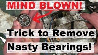 GREASY RAG HACK! Damage-Free Bearing Removal.