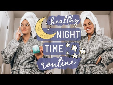 MY [realistic + healthy] NIGHTTIME ROUTINE 🌙 Relaxing • Skin • Self-Care