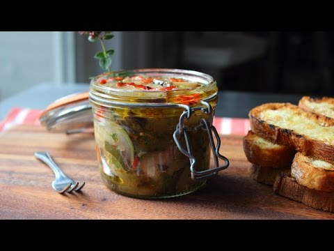 Eggplant Escabeche Recipe – Spicy Preserved Eggplant Relish – Cold Eggplant Salad