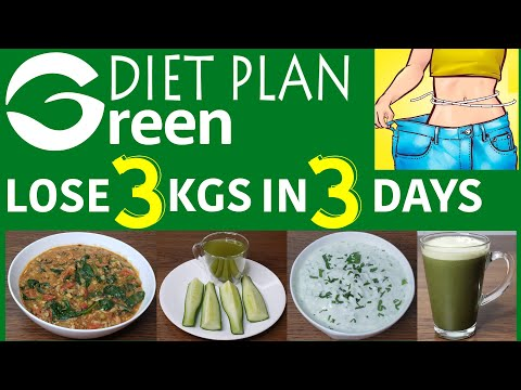 Green Diet: Lose 5 Kgs in 5 Days | Diet Plan To Lose 1Kg In 1 Day
