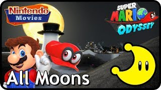 Super Mario Odyssey - Cap Kingdom - All Moons (in order with timestamps)