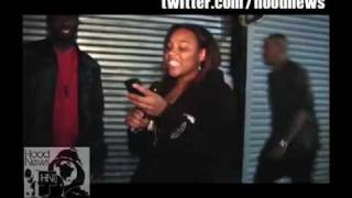 Charles Hamilton punched by a girl