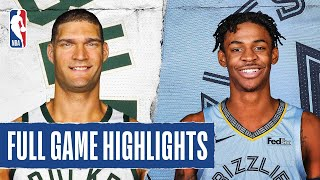 BUCKS at GRIZZLIES | FULL GAME HIGHLIGHTS | August 13, 2020