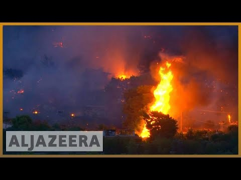 🇬🇷 🔥 Greece: Major forest fires rage near Athens as homeowners flee | Al Jazeera English