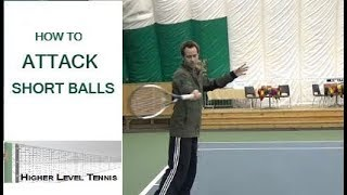 Tennis Lesson- How To Attack Short Balls