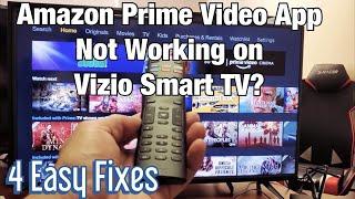 Amazon Prime Video App Not Working on Vizio Smart TV (4 Easy Fixes)