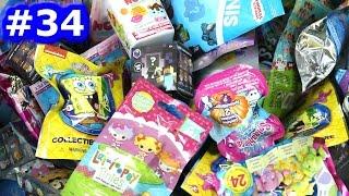 Random Blind Bag Box Episode #34 - Spongebob, Minecraft, Num Noms, Tsum Tsum Keyring