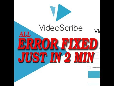 How to Fix Video Scribe All Error ( White Screen & All Error ) in