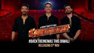 Sooryavanshi   #BackToCinemas This Diwali   5th Nov   Akshay, Ajay, Ranveer, Katrina   Rohit Shetty