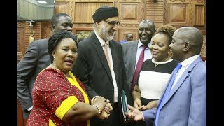 Why is wrong to kiss or hug within Kenyan Parliament
