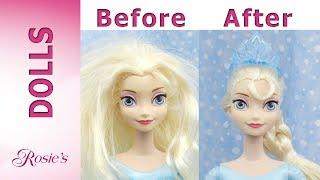Disney Queen Elsas Makeover -  Hair And Skirt