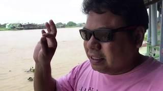preview picture of video 'เที่ยวนนทบุรี มื้อกลางวัน  ริมแม่น้ำเจ้าพระยา วัดแสงศิริธรรม  ท่าอิฐ นนทบุรี'