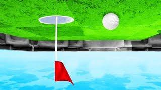 UPSIDE DOWN GOLF COURSE! (Golf It)