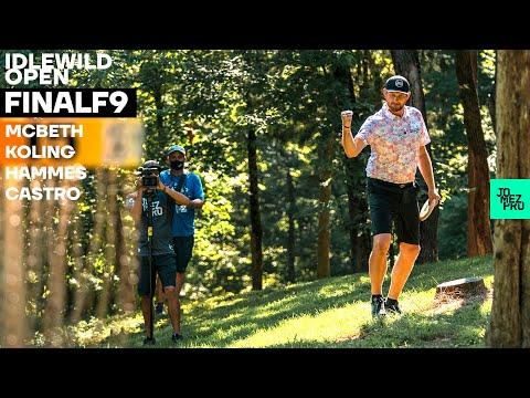 2020 IDLEWILD OPEN | FINALF9 LEAD | McBeth, Koling, Hammes, Castro | Jomez Disc Golf