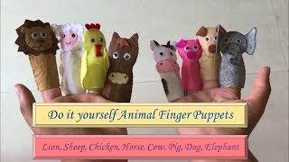 How To Make 8 Felt #animal #fingerpuppets