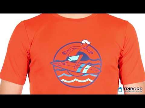 2692dd32a Camiseta com proteção solar UV 50+ Infantil Masculina Tribord - Exclusividade  Decathlon