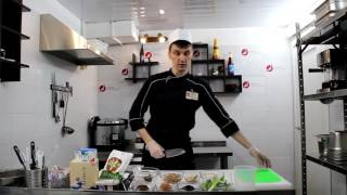 Японский мисо-суп, приготовление шеф повара кухни НИППОН