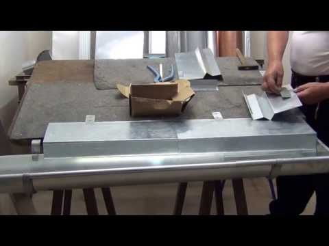 Ortblech ohne Wasserfalz montieren - Pappdach -