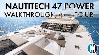 NEW Nautitech 47 Power Catamaran Walkthrough Tour