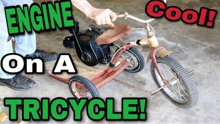 Taryl Puts An ENGINE On A TRICYCLE!!