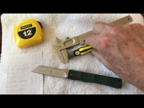 KATSU Japanese Folding Razor Pocket Knife Full Review and Demo 323