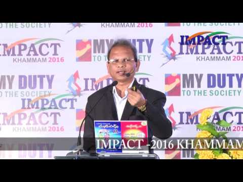 Woman and Finance|Vanga Rajendra Prasad|TELUGU IMPACT Khammam 2016