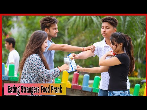 Eating Strangers Food Prank Part 2 On Public Ft Prank Star -by Shelly Sharma |P4 Prank|