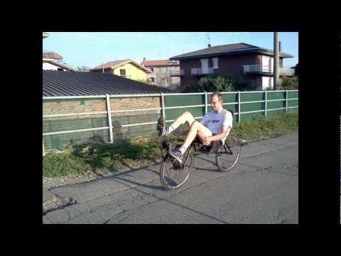 La mia prima recumbent bike (bici reclinata)