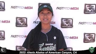 2022 Alexis Abalos Second Base Softball Skills Video