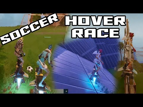 Fortnite | Hoverboard Soccer | Hoverboard Racetrack | Fun in StoneWood SSD with my kids