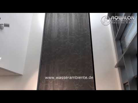 "Wasserwand ""Aqualon Skyfall II"" aus Edelstahl Ringgewebe"