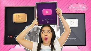 PINK YouTube Play Button hecho de ACRÍLICO para UÑAS!!!