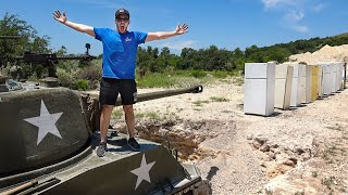 TANK Vs. 10 FRIDGES!!! (5 Million Subscribers Special)