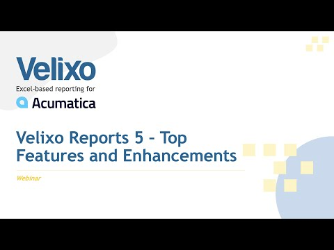 Velixo Reports 5 Top Features and Enhancements