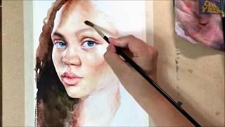 watercolor portrait tutorial kim so hyun most popular videos