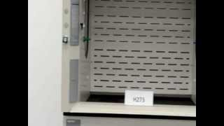 4′ Labconco Protector Laboratory Fume Hood with Epoxy Tops and Base Cabinets (H273)