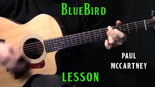How To Play Bluebird On Guitar By Paul McCartney  Acoustic Guitar Lesson Tutorial