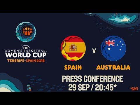 Press Conference – Spain v Australia – Semi-Final – FIBA Women's Basketball World Cup 2018
