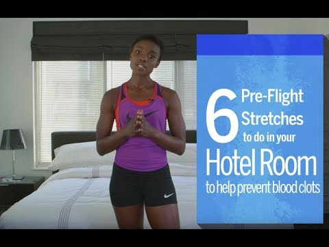 Six Pre-Flight Stretches That Help Prevent Blood Clots On Long Flights